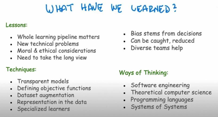 summary slide from Isbell talk at NeurIPS