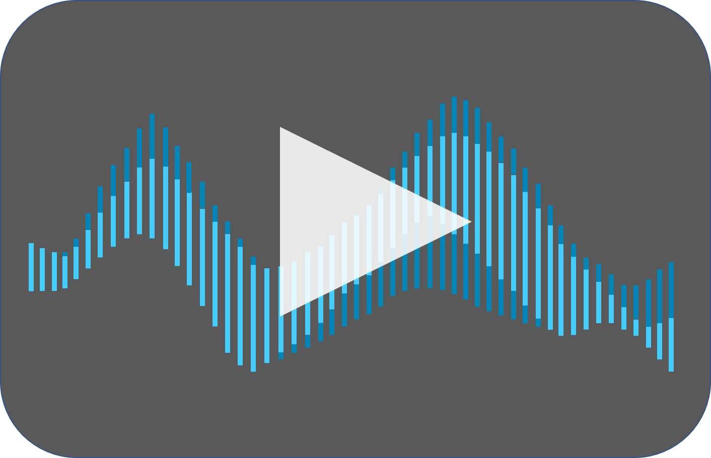 sound wave with play button