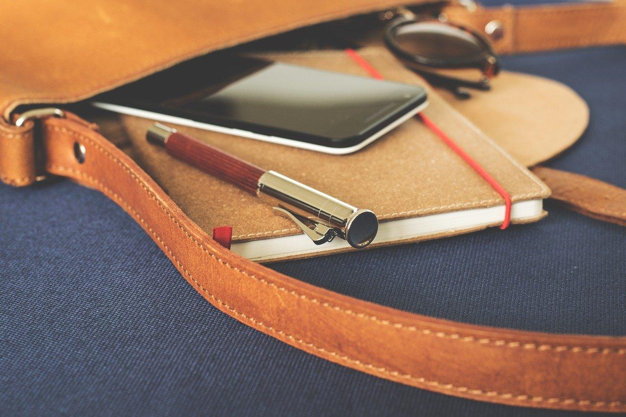 mobile phone in bag