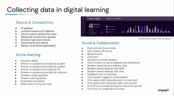 collecting data in online learning