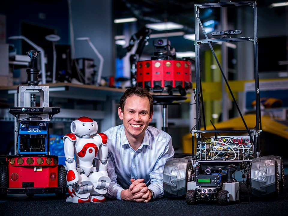 michael milford with robots