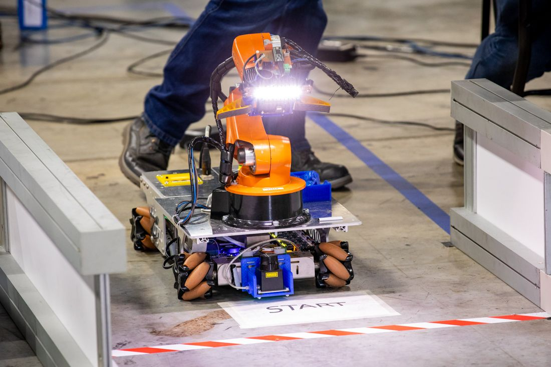 RoboCup at Work robot on start line