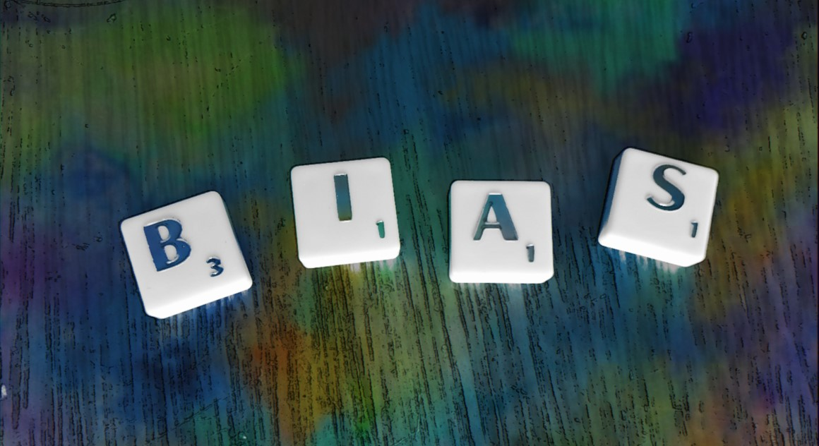 bias - letters on table